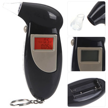 Hot Sale Digital LCD Backlit Display Breath Alcohol Tester with Audible Alert High Precision Breathalyzer(China (Mainland))
