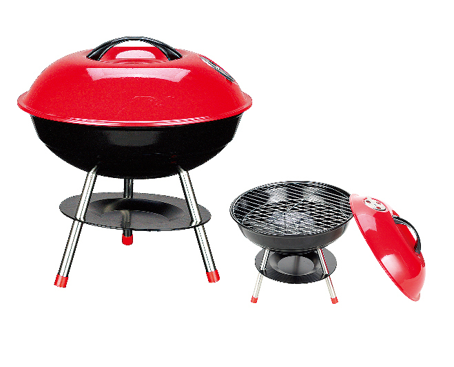 Free shipping New annual summer 2015 outdoor Iron BBQ grill Camping BBQ Portable Cooking Travel Picnic BBQ Grill for 3-5 person(China (Mainland))