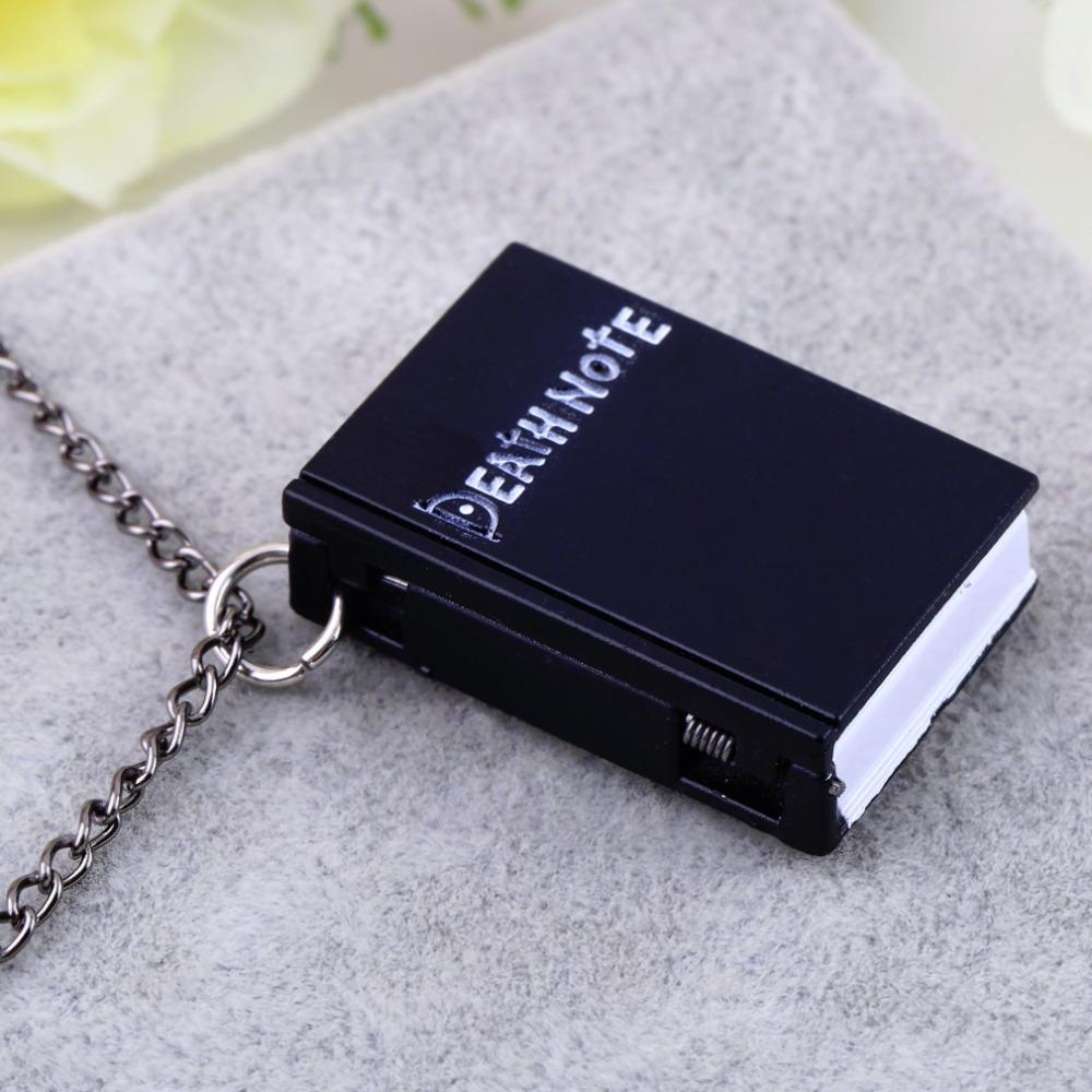1pcs Hot Worldiwde Vintage Unique Death Note Book Quartz Pocket Watch Pendant Necklace Gift Hot Popular
