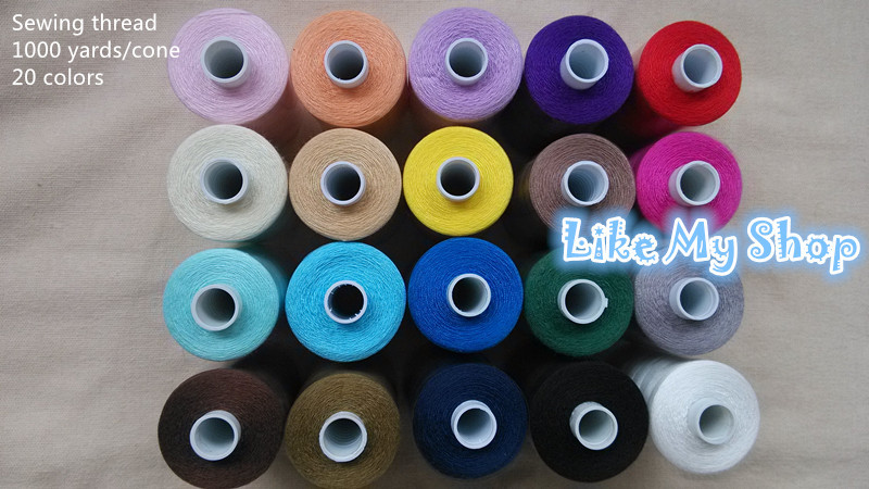 free shipping 1000 yards polyester sewing thread machine/hand sewing thread high strength for any sewing machine(China (Mainland))