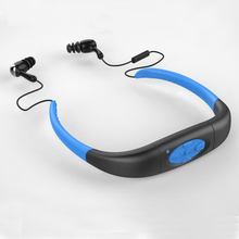 Waterproof Sports MP3 IPX8 Music Player Underwater Neckband Swimming Diving with FM Radio Earphone Stereo Audio Headphone(China (Mainland))