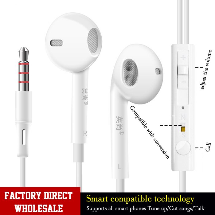 Bests Original brand 3.5mm earphone headphone bass headset with microphone for your phone apple iPhone Samsung fone de ouvido(China (Mainland))