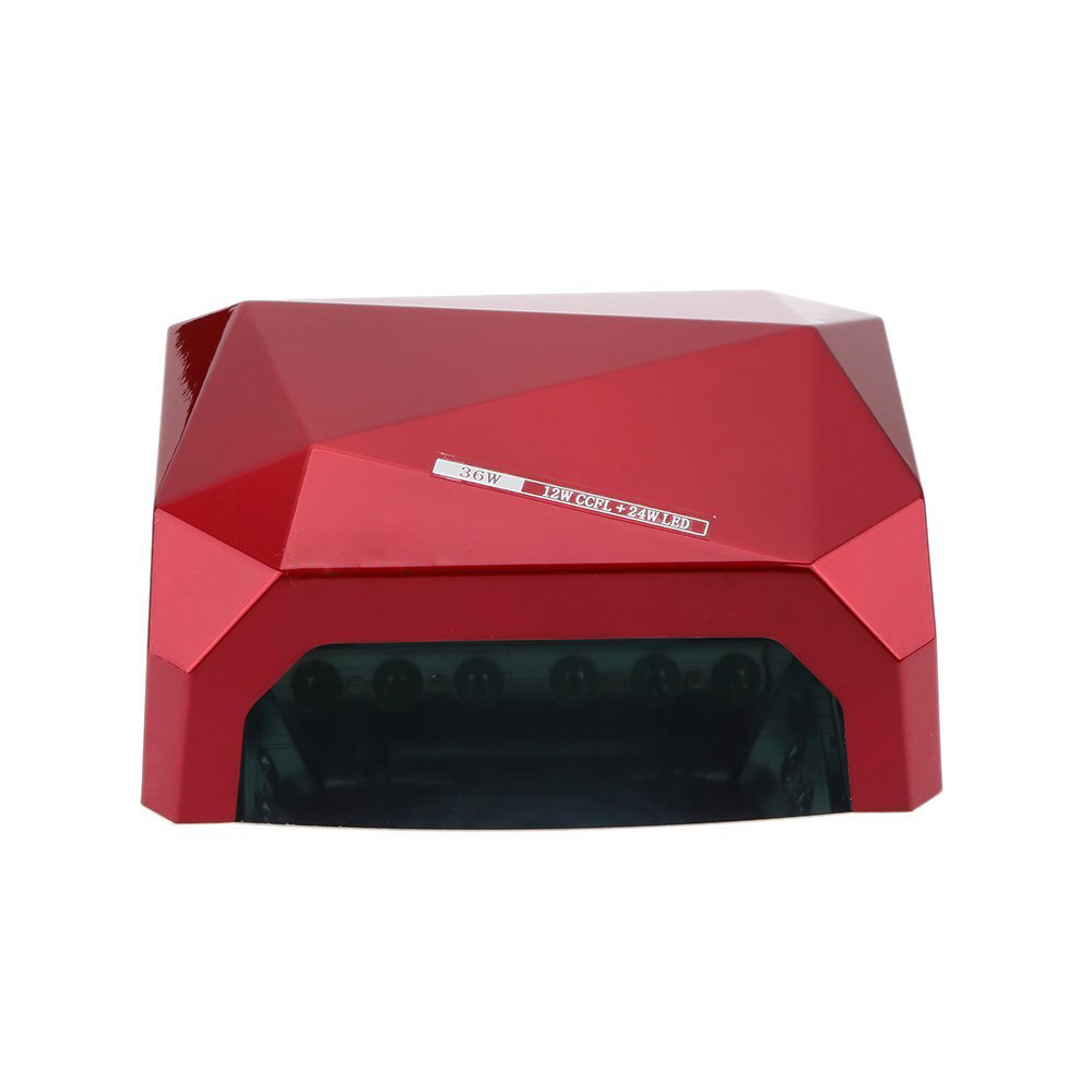5 sets of 36W UV+LED CCFL Nail Dryer Diamond Shaped Best Curing Lamp Machine for UV Gel Nail Polish (Red)(China (Mainland))
