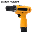 CRAZY POWER 12V Electric Drill Double Speed Lithium Cordless Drill Household Electric Screwdriver Power Tool EU
