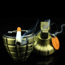 Creative metal men's cigaretee ashtray ,windproof Inflatable butane gas lighters,size 10cm*5cm*5cm(China (Mainland))