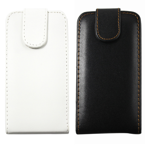 Brand New Black and white Flip Down Leather Pouch Case Cover For Apple iPhone 3 3G 3GS Drop & DC1055(China (Mainland))