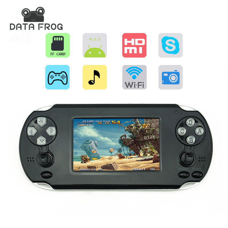 2016 NEW 3.5 Inch Handheld Console Game Support for PSP Games with Android System Wi-Fi Touch Screen For 1080P HDMI Output(China (Mainland))