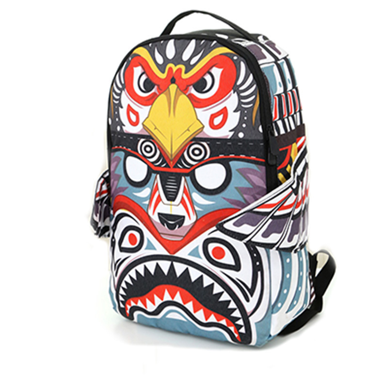 2015 women backpack national style canvas backpack eagle kite printed with wings pattern bag personality bags for teenagers(China (Mainland))