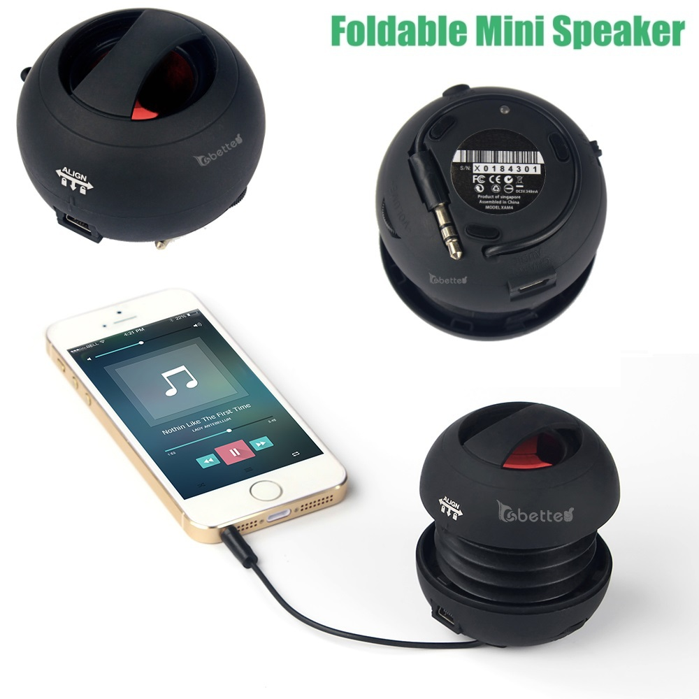 Mini Foldable Portable Capsule Speaker for iPhone iPad iTouch,Mobiles,MP3 MP4 Players,Laptops,Computers and other Smart Phones(China (Mainland))