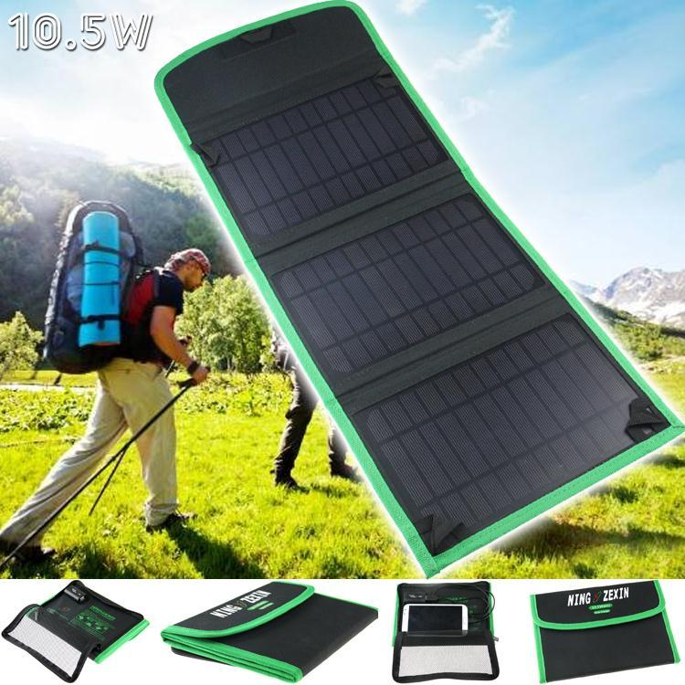10.5W Solar Charger Waterproof Foldable Outdoor Solar Panel Battery Charger For Iphone Mobile Phone Conputer USB Charger(China (Mainland))
