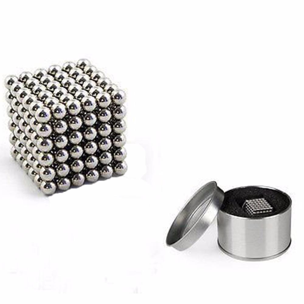 216 x 5mm Magic Magnetic Balls Neodymium Cube Puzzle Toy with metal box(China (Mainland))