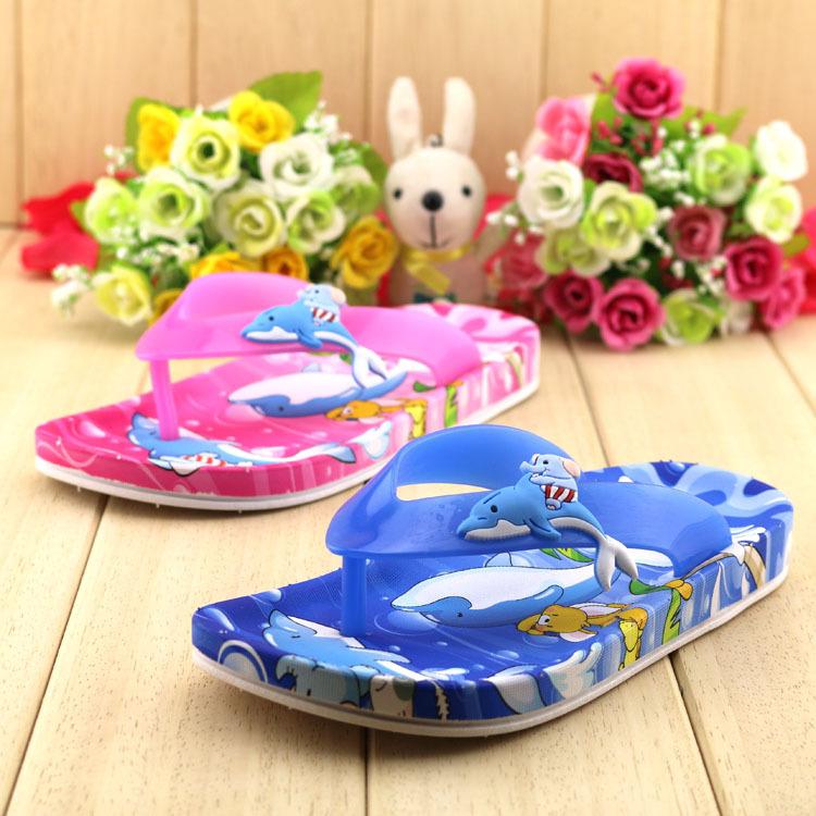 2015 New children slippers cartoon Flip flop fashion shoes sandals kids slippers Summer Beach shoes girls Boys sandals(China (Mainland))