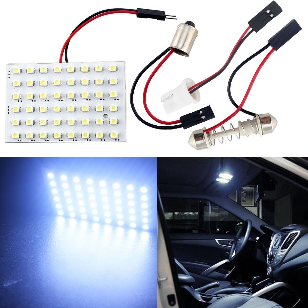 48 LED Auto Car Dome Festoon Interior Bulb Roof Light Lamp with T10 BA9S Festoon Adapter Base Reading light High Quality(China (Mainland))