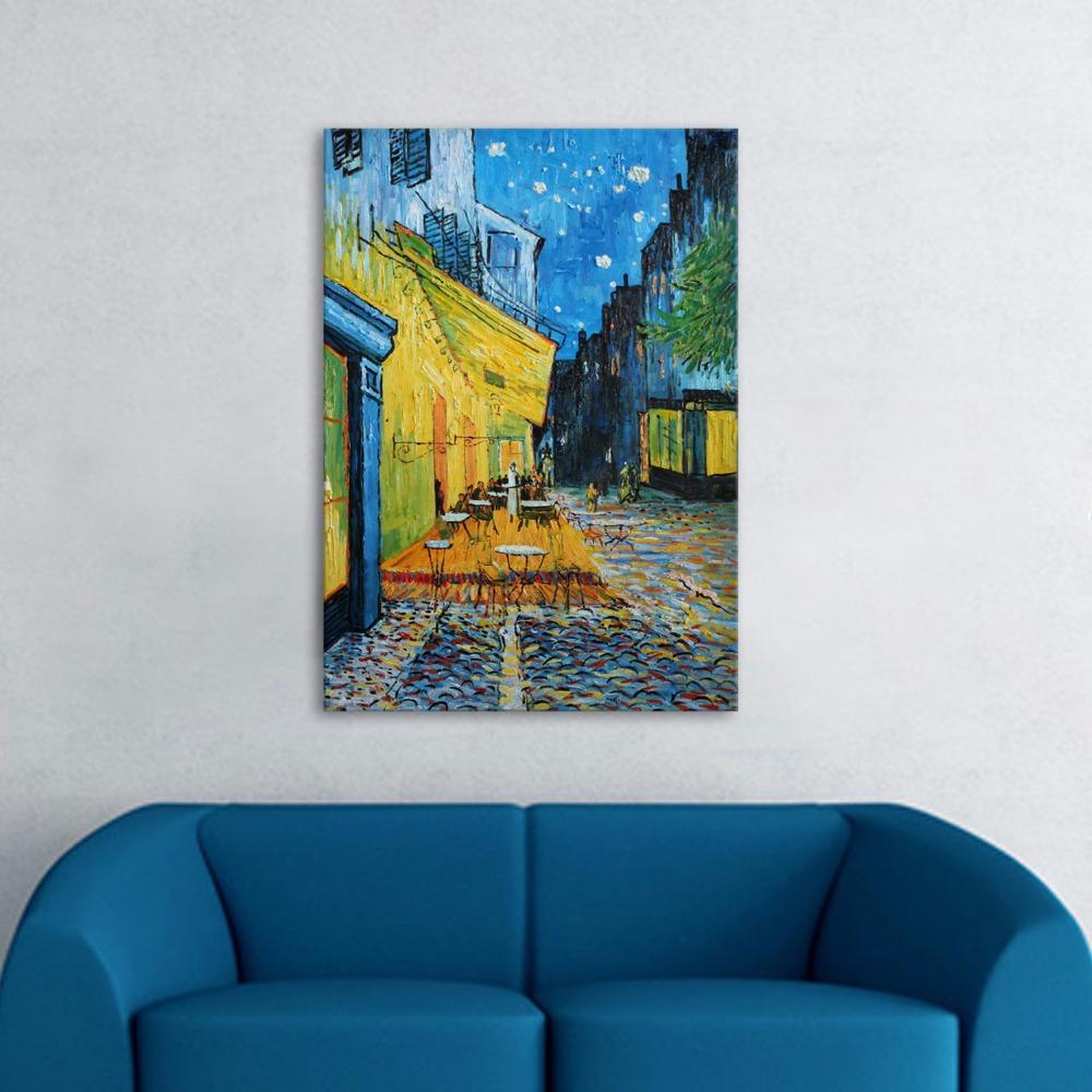 Cafe Terras Nachts Beroemde Schilderij 100% Handgeschilderde ...