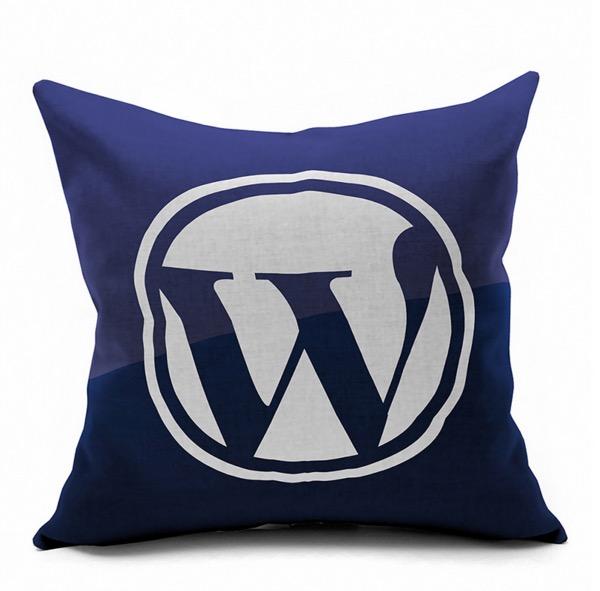 Wordpress Website Internet Technology Symbol Logo Emoji Pillow Massager Decorative Pillows Case Cover Euro Home Decor Gift(China (Mainland))