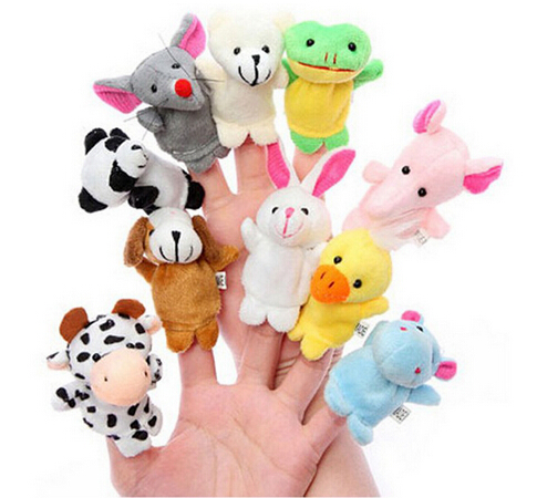 Wholesale,Baby Plush Toy,Finger Puppets,Hand Puppets,Talking Props(10 animal group mixed)/Kids ChristmasGift(China (Mainland))