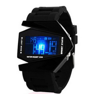 2015 Fashion creative digital watch Buzos hombre military watch colorful backlight fighter LED watch sport relogio
