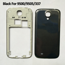 Black Housing Frame For Sumsung Galaxy S4 I9500 I9505 I337 Middle Chassis Frame Bezel Battery Door Back Cover + Repair Tool Kit(China (Mainland))