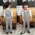 3pieces Set Autumn 2016 Children s Leisure Clothing Sets Kids Baby Boy Suit Vest Gentleman Clothes