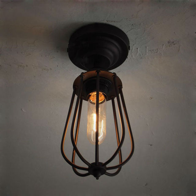 simple retro ceiling lights american country style loft attic corridor lamp kitchen balcony lighting iron spray american country style loft