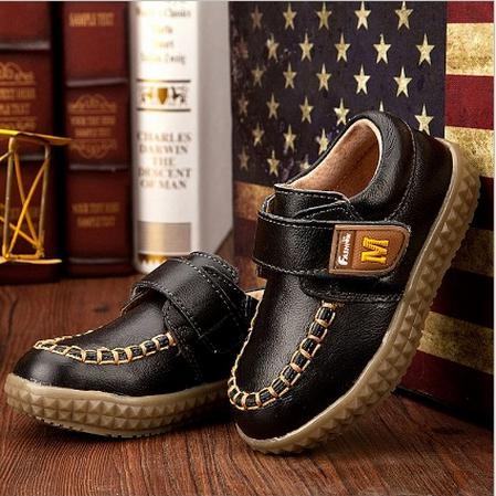 Genuine Leather Shoes Children Sneakers Sports Cheap Boy tenis girl trainer,breathable kid baby boots(China (Mainland))