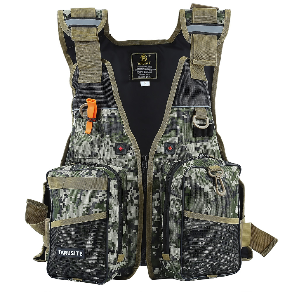 Safety Life Jacket Digital Camouflage Water Sport Professional Life Vest Survival Suit Water Safety Tool Sailing Fishing Clothes(China (Mainland))