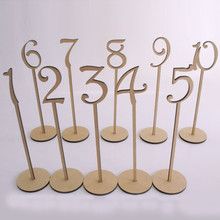 10pcs/set Handmade Wooden Wedding Party Supplies 1-10 or 11-20 Place Holder Table Number Figure Card Digital Seat Decoration(China (Mainland))