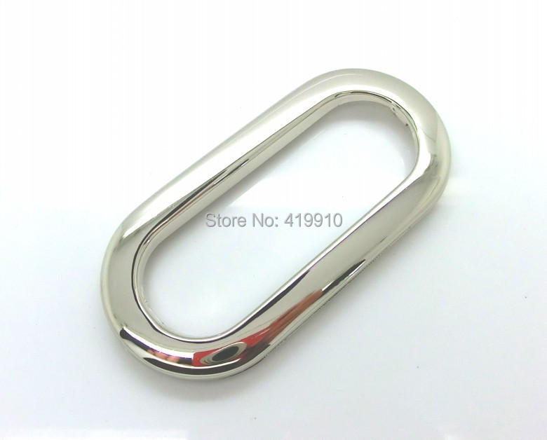 Free Shipping-10 Sets Silver Tone Purse/Handbags Insertion Component Metal Oval Handle 10.9x5.2cm M01142(China (Mainland))