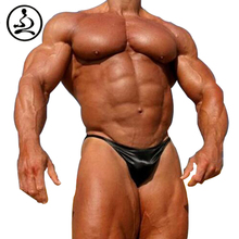Mens Bodybuilding Posing Trunks  Gym Competition Posing Wear Sexy Beach Swim Wear Boys Swimsuits Hot Underwear Contoured Pouch(China (Mainland))