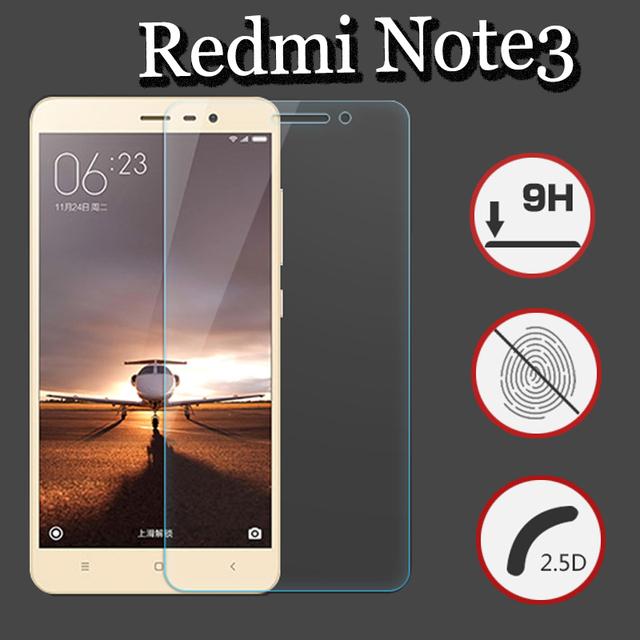 Новые редми примечание 3 закаленное стекло фильм 9 8-9н ультратонких настоящее премиум-экран протектор для Xiaomi редми Note3 без розничной упаковки