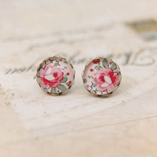 Buy Mori girl style sweet Floral Earrings literary Small pure fresh ear jewelry NS-rd36 for $1.38 in AliExpress store