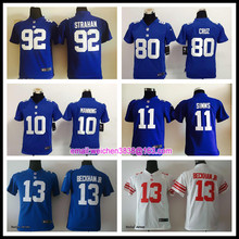 Hot new york giants Top quality For youth kids girls Home Away Odell Beckham Jr Eli Manning Victor Cruz Phil Simms BH(China (Mainland))