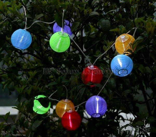 wholesale LED Solar lantern Good for holiday and wedding decoratives 100% solar powered 24pcs/lot Free shipping