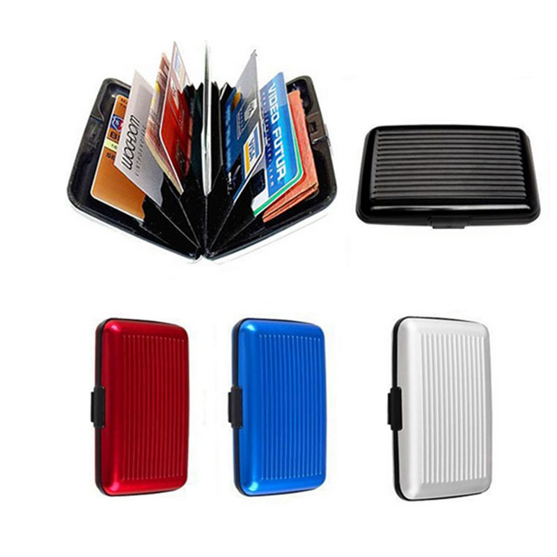 Waterproof Business metal Credit Card Holder porte carte bancaire Aluminum Shiny Side Anti RFID scan Cover tarjetero mujer(China (Mainland))