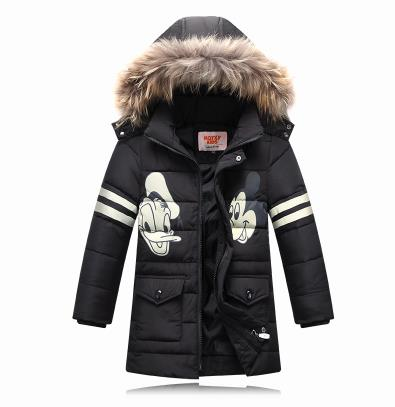Top Quality Parka Fashion Children's Winter Jacket Cartoon Thick Down Jacket Boys Down Jacket White Duck Down Coat(China (Mainland))