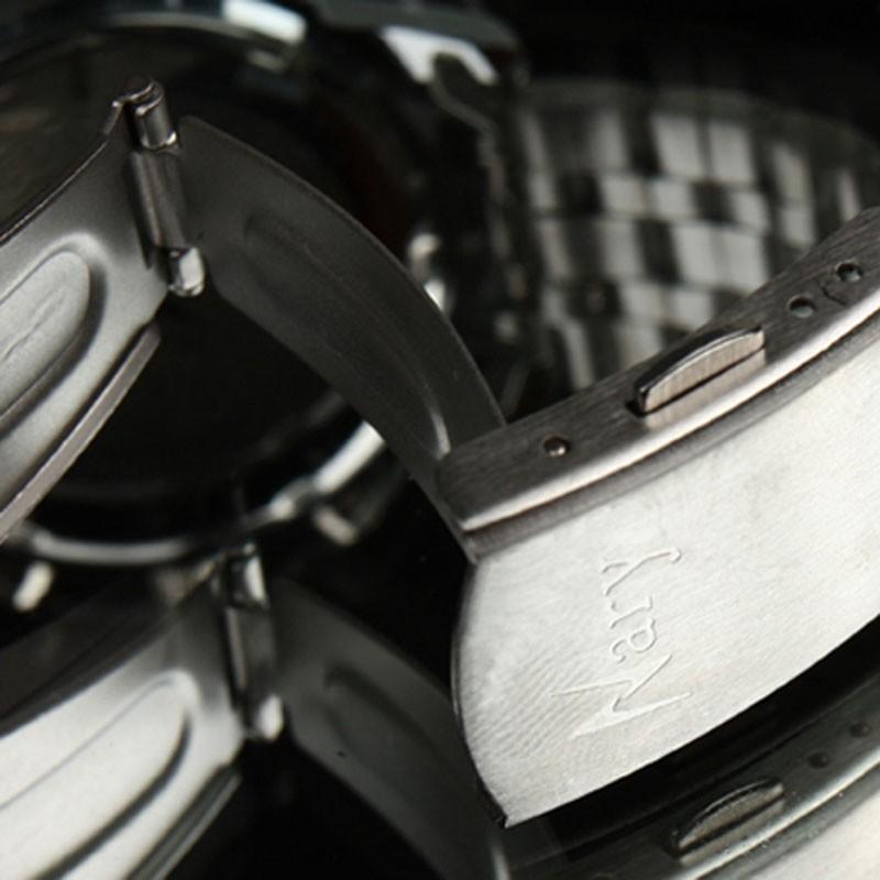 НАРЫ Марка Мода Мужчины Часы Из Нержавеющей Стали Ремешок Календарь Женские Часы Повседневная Бизнес Кварцевые Наручные Часы Relógio Masculino
