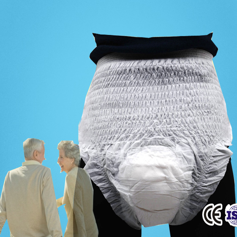 Diaper Pants For Adults Size L Incontinence Cloth Diapers Patient Old Man/Women Adult Nappy 10 Pieces One Bag Free Shipping(China (Mainland))
