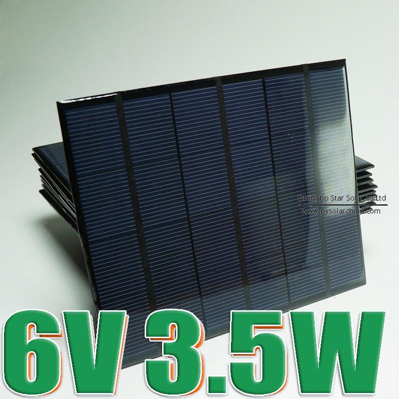 1pc x 6V 3.5W 3 Watt Mini monocrystalline polycrystalline solar Panel charge(China (Mainland))