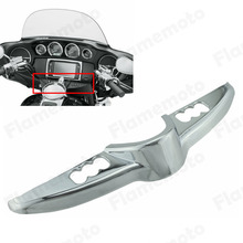 Chrome Switch Panel Accent Faring Cap Cover Harley Touring Models Electra Street Tri Glide 2014-2015 FLHT