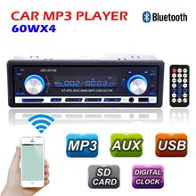 New 12V Car Radio BLUETOOTH autoradio 1-Din Stereo fm transmitter USB/SD AUX Audio MP3 Player Car in Dash 60Wx4 for phone(China (Mainland))
