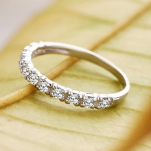 Lose money promotion wholesale new arrival super shiny zircon 925 sterling silver finger rings jewelry 1pcs