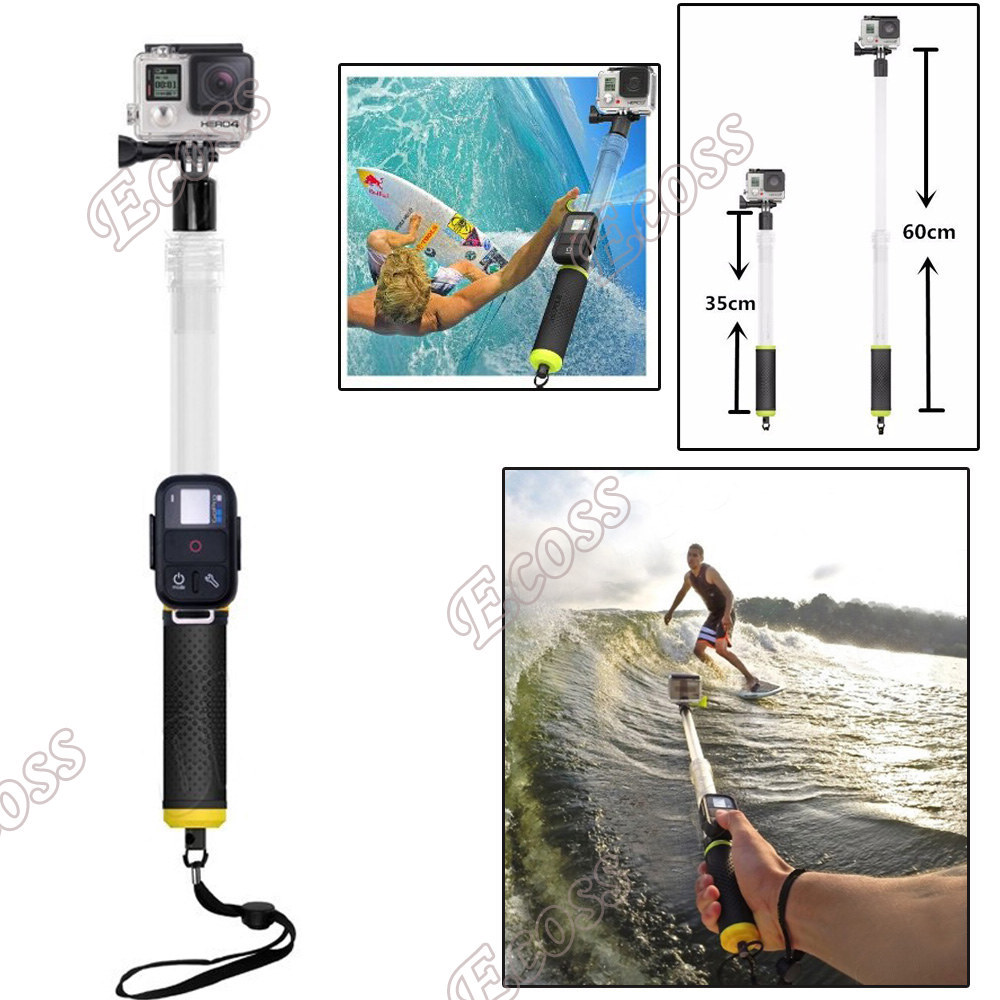 GoPro Floating Extension Pole 35-60CM Transparent Floaty Telescoping Monopod
