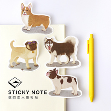 1 x cartoon Pet Dog memo pad dog sticky note paper sticker kawaii stationery pepalaria office school supplies(China (Mainland))