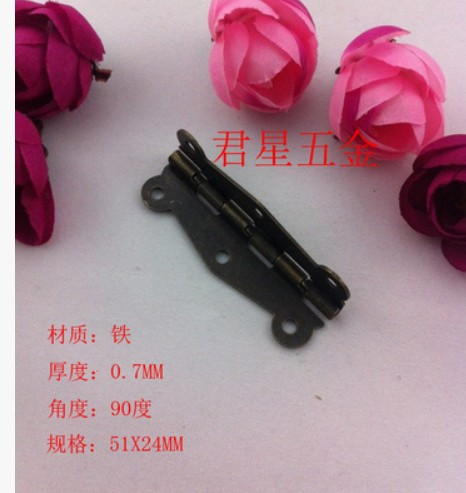 90 degree antique lace type hinge hinges bar long wooden packing box parts 52mm*25mm(China (Mainland))