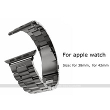 Stainless Steel Strap Classic Buckle Watch Band for 2015 New Apple Watch Sport 38mm 42mm with