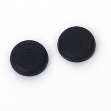 UESH!  Pair of Plugs Channel Broom Thumbstick for PlayStation 4 PS4 Controller - Black(China (Mainland))