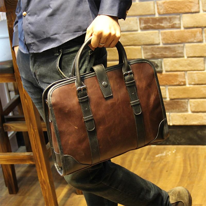2015 new Leather men bag Shoulder Bags mens briefcase business mens travel bags Men messenger bags<br><br>Aliexpress