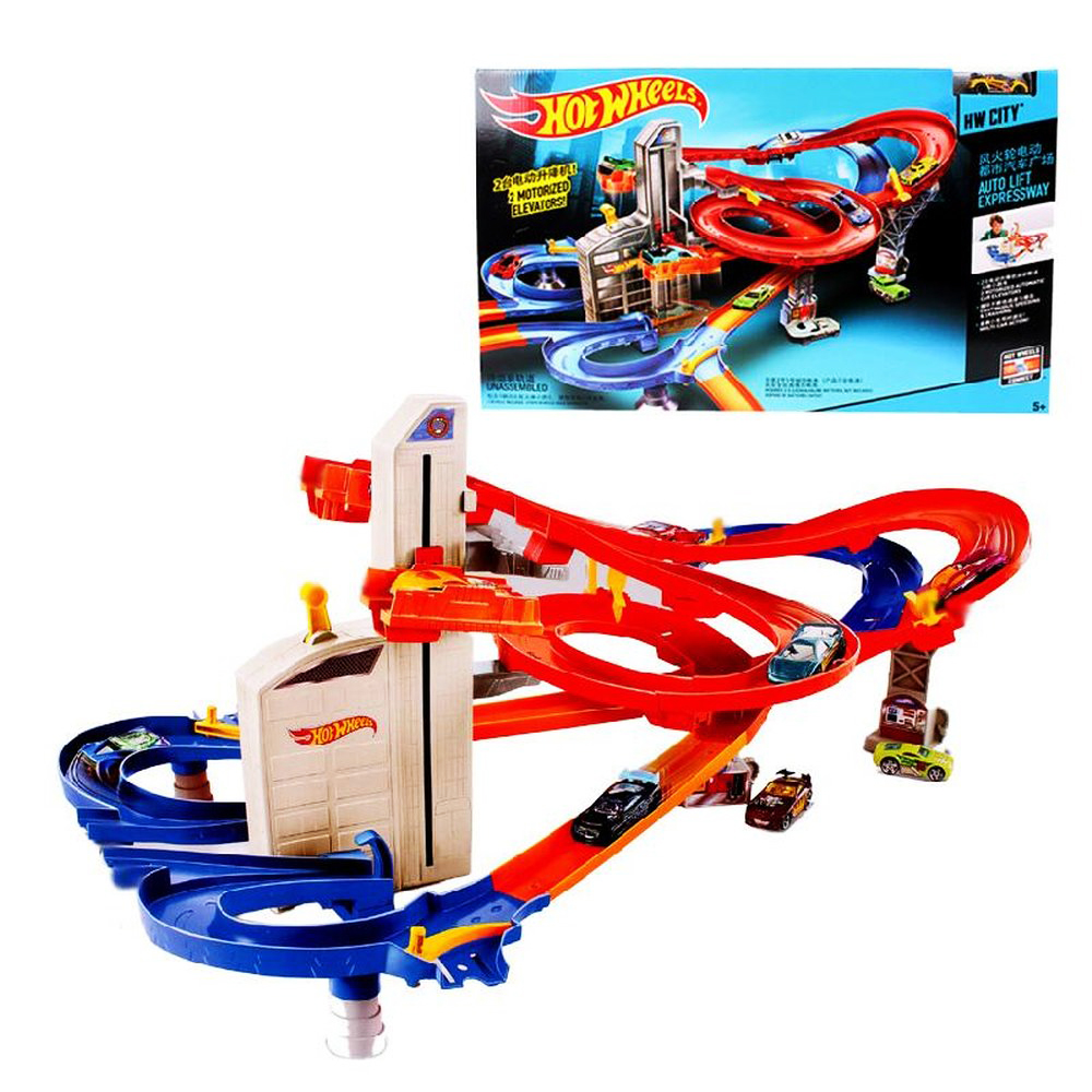 Cyclotron Stereo Track Miniatures Car Model Fast Cyclotron Miniatures Car Model Plastic Metal Mini Toys For Boys Birthday Gift(China (Mainland))