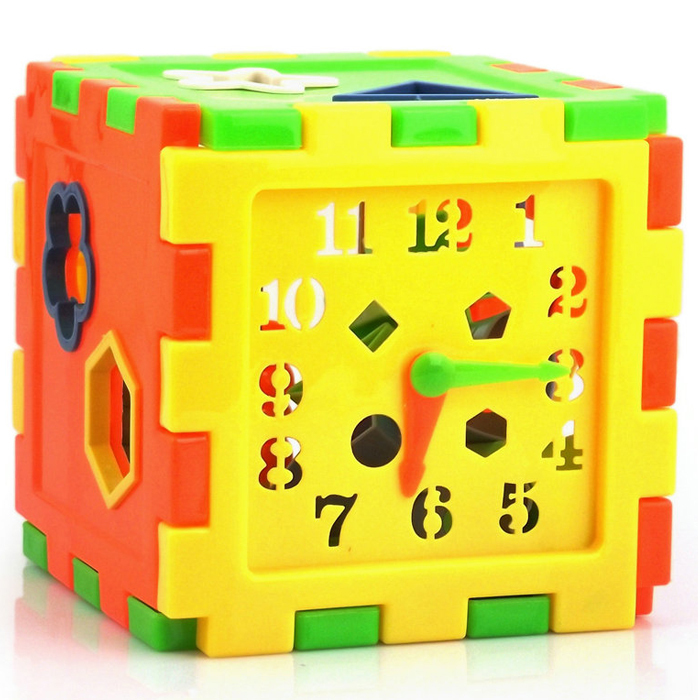 Baby Block Building Toys Bricks Early Learning & Educational Toys Plastic Clock Shape Gifts For Children Christmas Presents(China (Mainland))