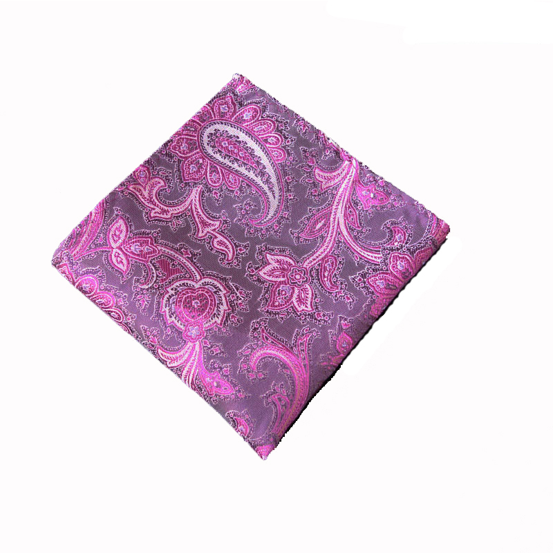 2016 Flower or Paisley Mens Polyester Handkerchiefs Chest Towel Hanky Gentlemen Wedding Party Pocket Square 20 Colors for Choose(China (Mainland))
